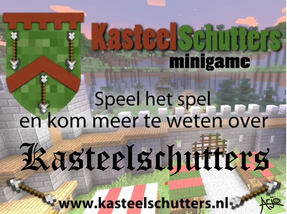logo minigame Minecraft Kasteelschutters Arjo Nagelhout